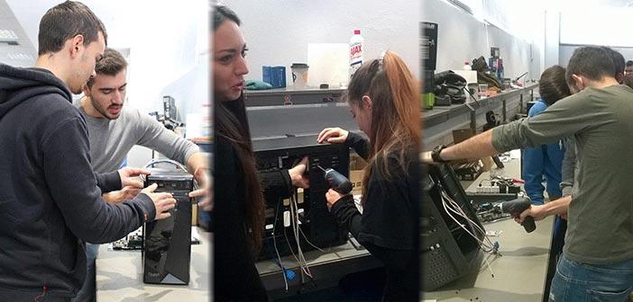 Οι μαθητές Παπάγου και Χολαργού συναρμολογούν τον υπολογιστή Quest