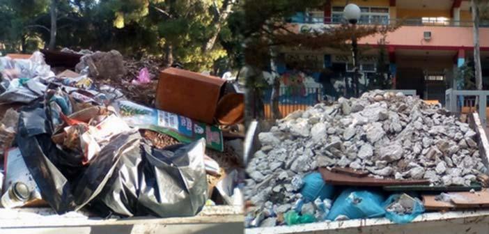 Δ. Κωνστάντος: Να απομακρυνθεί ο επικίνδυνος κάδος μπροστά από το 3ο Δημοτικό Πεύκης