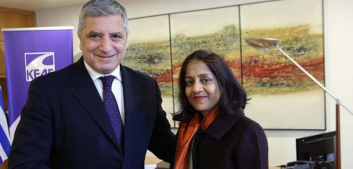 Συνάντηση προέδρου ΚΕΔΕ με την πρέσβειρα της Ινδίας στην Ελλάδα