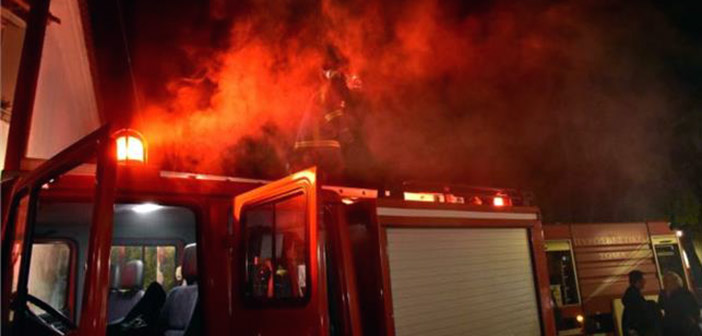 Φωτιά σε εγκαταλελειμμένο ισόγειο χώρο κτηρίου επί της Λεωφόρου Ηρακλείου