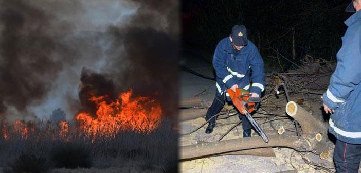 «Φούντωσαν» οι πυρκαγιές σε όλη τη χώρα – καταστροφές από τις θυελλώδεις ανέμους