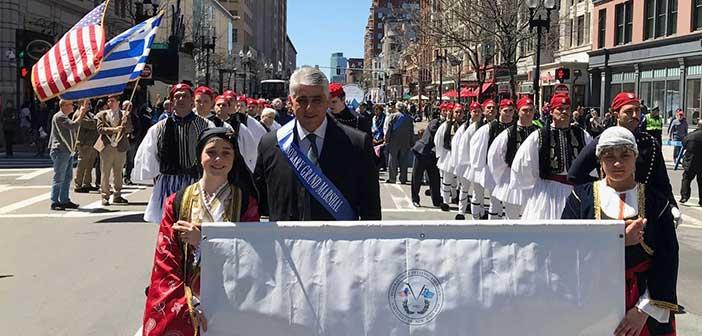 Τελετάρχης σε εκδηλώσεις για την Ελληνική Ανεξαρτησία, στη Βοστώνη, ο α΄ αντιπρόεδρος ΚΕΔΕ