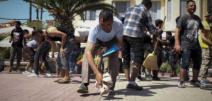 Μυτιλήνη: Ένταση με πρόσφυγες στην κεντρική πλατεία του νησιού