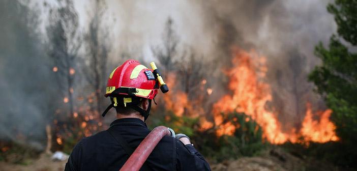 Πυρκαγιά στον Βαρνάβα Αττικής