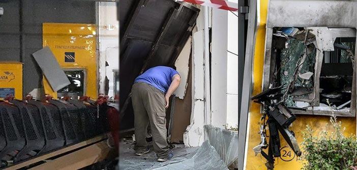 Ισχυρή έκρηξη σε ΑΤΜ στην Εκάλη και φθορές σε σούπερ μάρκετ