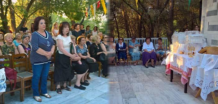 Με λαμπρότητα γιορτάστηκε η μνήμη της Αγίας Μαρίνας στο κτήμα του ομώνυμου Συλλόγου