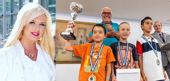 Συγχαρητήρια Μ. Πατούλη-Σταυράκη στον σκακιστή του «Αριστοτέλη» Μιχάλη Βάσση