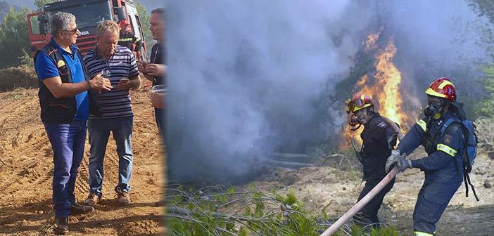Επικοινωνία του προέδρου της ΚΕΔΕ Γ. Πατούλη με τους δημάρχους των περιοχών όπου είναι σε εξέλιξη μεγάλες πυρκαγιές