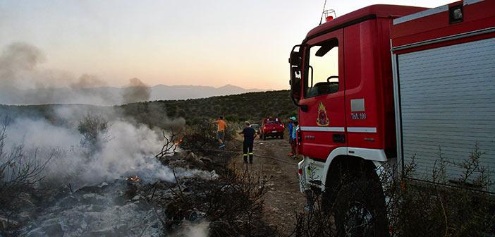 Yψηλός ο κίνδυνος πυρκαγιάς τη Δευτέρα σε πολλές περιοχές της χώρας