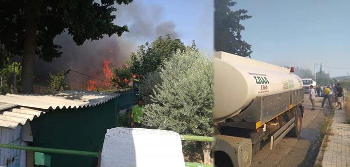 O ΣΠΑΠ συμμετείχε στην προσπάθεια κατάσβεσης πυρκαγιάς στον Γέρακα