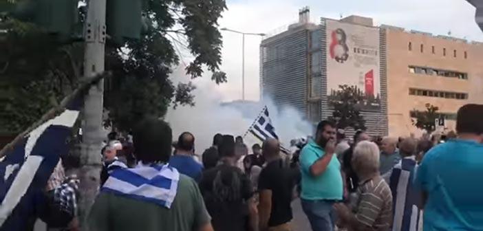 Επεισόδια στο συλλαλητήριο για τη Μακεδονία στη Θεσσαλονίκη