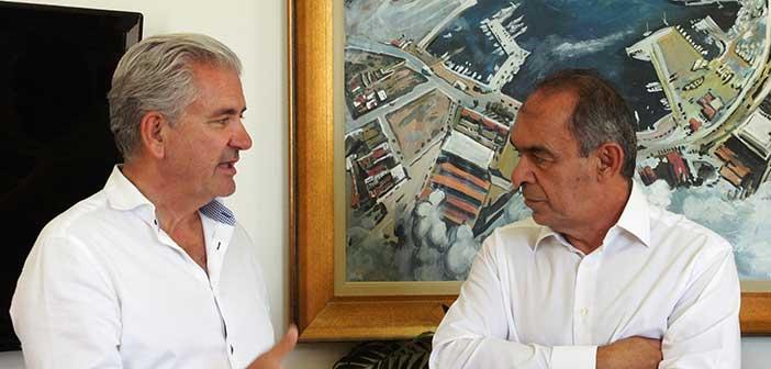 Θέματα του Δήμου Λαυρεωτικής και της Αυτοδιοίκησης συζήτησαν Γ. Ιωακειμίδης και Δ. Λουκάς