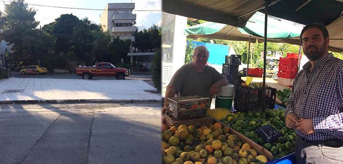Στην κεντρική λαϊκή αγορά Ηρακλείου Αττικής ο Γ. Παπαδημητρίου