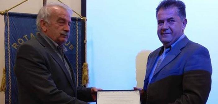 Σε βράβευση των Εθελοντών Δασοπυροσβεστών & της Π.Π. Ραφήνας – Πικερμίου ο δήμαρχος Πεντέλης