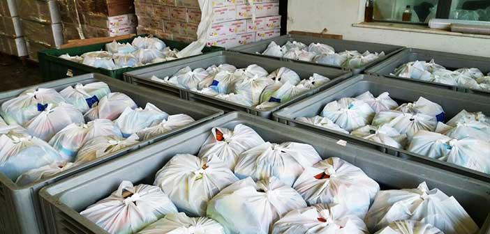 Διανομή τροφίμων από την Κοινωνική Σύμπραξη της Π.Ε. Νοτίου Τομέα Αθηνών