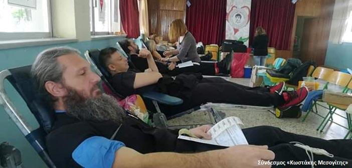 327 μονάδες αίματος συγκεντρώθηκαν σε αιμοδοσία του Συνδέσμου «Κωστάκης Μεσογίτης»