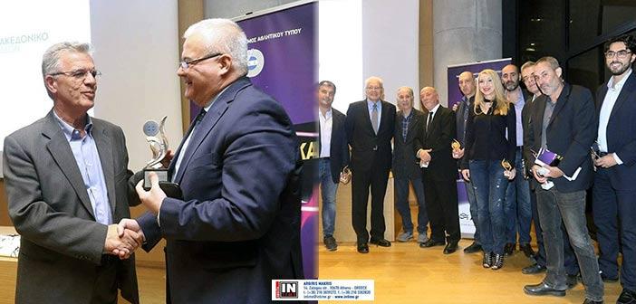 Ο Γ. Θεοδωρακόπουλος στο Μουσείο της Ακρόπολης για τα δημοσιογραφικά βραβεία του ΠΣΑΤ