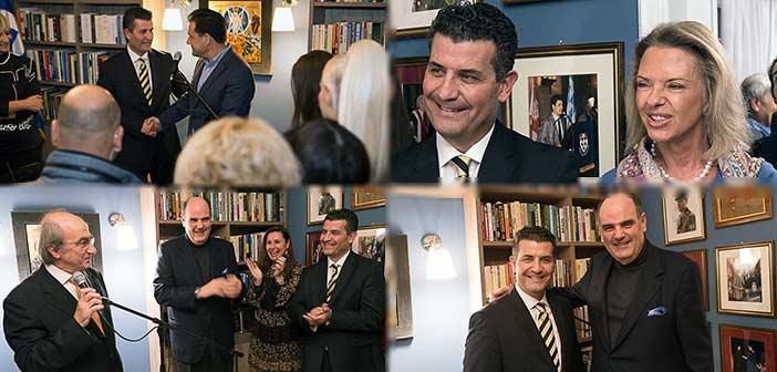 Το αδιαχώρητο στα εγκαίνια του γραφείου του πολιτευτή Β' Αθήνας της Νέας Δημοκρατίας Σωτήρη Ησαΐα