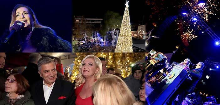 Το Μαρούσι φωταγώγησε το χριστουγεννιάτικο δένδρο του συντροφιά με τη Δέσποινα Βανδή