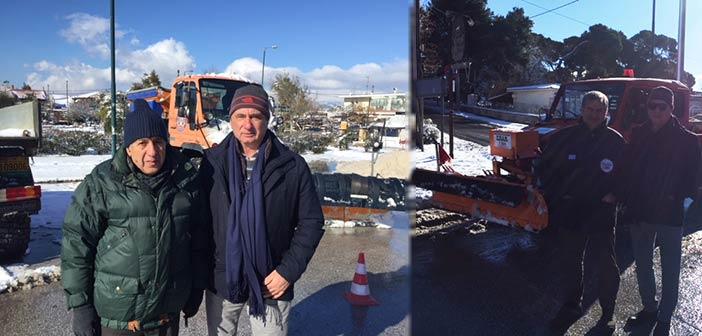 Στις χιονισμένες Δημοτικές Ενότητες του Δήμου Πεντέλης ο Γ. Κατσικογιάννης
