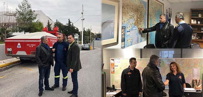 Ενημέρωση Γ. Πατούλη από αξιωματικούς και στελέχη του Πυροσβεστικού Σώματος και της Πολιτικής Προστασίας