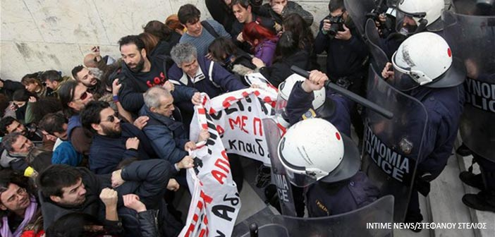 Όλγα Γεροβασίλη: ΜΑΤ χτύπησαν στα τυφλά διαδηλωτές – ΕΛ.ΑΣ: Κατεπείγουσα ΕΔΕ