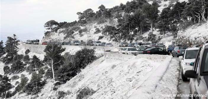 Διακοπή κυκλοφορίας στη Λ. Πάρνηθος και στην περιφερειακή οδό Πεντέλης – Νέας Μάκρης