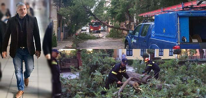 Συνεχής ενημέρωση του Γ. Πατούλη για τις ζημιές από πτώσεις δένδρων στην Αττική