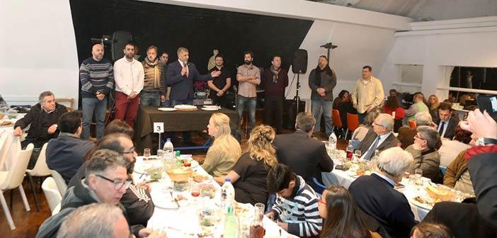 Ο Γ. Πατούλης στην κοπή πρωτοχρονιάτικης πίτας του Συλλόγου Εργαζομένων Δήμου Αμαρουσίου