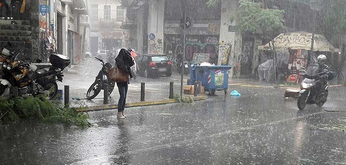 Βροχές, καταιγίδες, χαλάζι και θυελλώδεις άνεμοι Πέμπτη και Παρασκευή