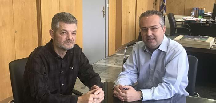 Συνάντηση Ηλ. Αποστολόπουλου με τον τεχνικό διευθυντή της Αττικής Οδού