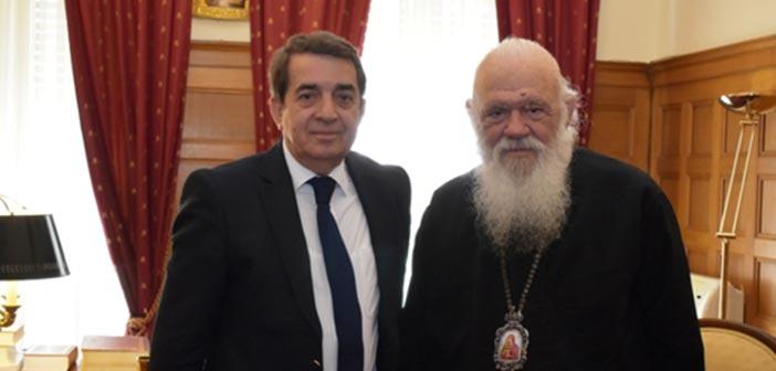 Συνάντηση Αρχιεπισκόπου Ιερώνυμου με τον Κ. Τίγκα