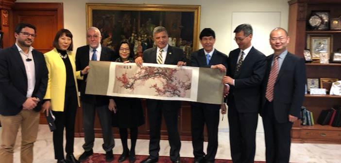 Αντιπροσωπεία της Δημοτικής Επιτροπής Υγείας του Πεκίνου υποδέχτηκε ο Γ. Πατούλης