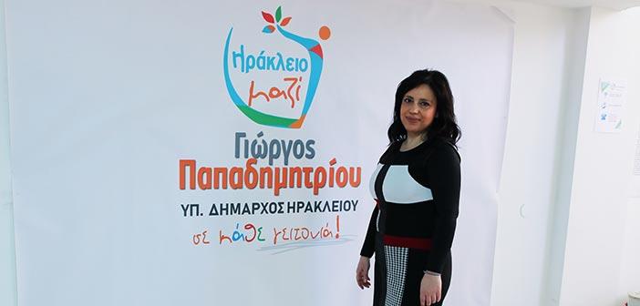 Υποψήφια με τον συνδυασμό Ηράκλειο – Μαζί η Ειρήνη Αποστολάκη