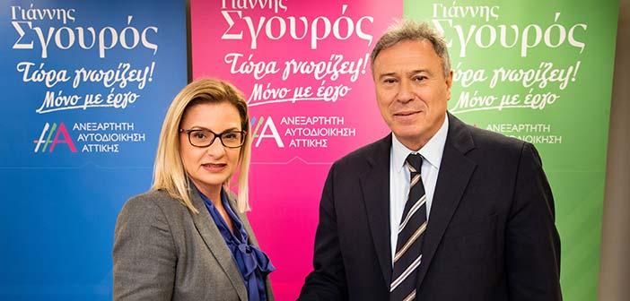 Υποψήφια με τον Γιάννη Σγουρό η Ελένη Αζά-Θεοδωρακοπούλου