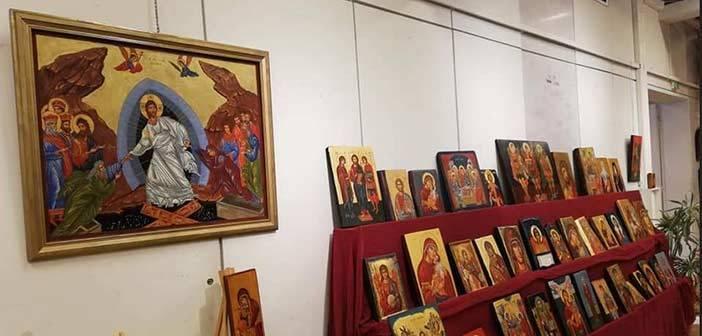 Πραγματοποιήθηκε με επιτυχία η έκθεση με έργα του Εργαστηρίου Αγιογραφίας