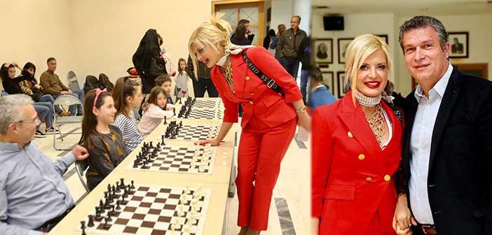 Τουρνουά σκάκι στο Μαρούσι παρακολούθησε η Μ. Πατούλη-Σταυράκη