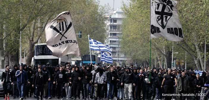 Θεσσαλονίκη: Πορεία οπαδών του ΠΑΟΚ για τη Μακεδονία