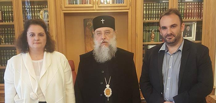 Συνάντηση Αγγελικής Παπάζογλου με τον μητροπολίτη Κύριλλο