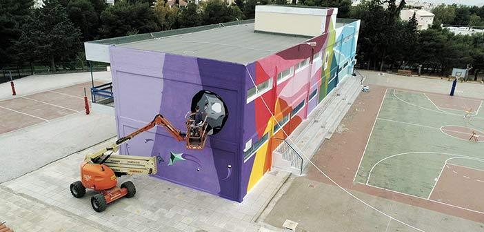 Τα παιδιά έδωσαν χρώμα στο κτήριο των 2ου – 3ου Δημοτικών Σχολείων Παπάγου