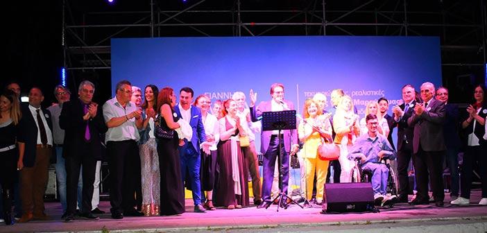 Η προεκλογική ομιλία του Γιάννη Νικολαράκου στην πλατεία Ηρώων
