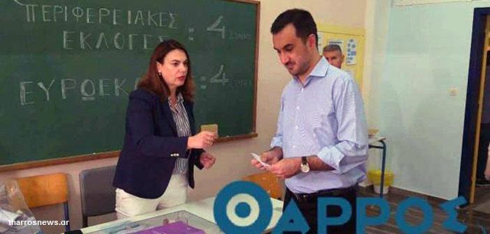 Στην Καλαμάτα ψήφισε ο υπουργός Εσωτερικών Αλ. Χαρίτσης