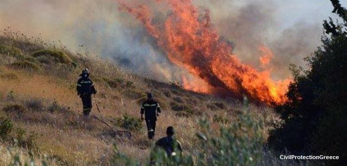 Πυρκαγιά ξέσπασε στην Αρτέμιδα Αττικής