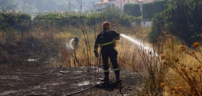 Φωτιά στην Κηφισιά καίει ξερά χόρτα – Συναγερμός στην Πυροσβεστική