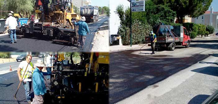 Ασφαλτοστρώνεται ο κόμβος Χ. Τρικούπη και Μπακογιάννη στην Κηφισιά – Κυκλοφοριακές ρυθμίσεις στην περιοχή