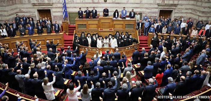 Ορκίστηκαν οι «300» της νέας Βουλής