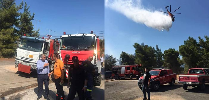 Συμμετοχή ΣΠΑΠ στην κατάσβεση της πυρκαγιάς στη Ραφήνα