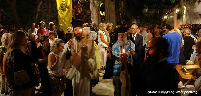 Πλήθος κόσμου στον εορτασμό του ιστορικού παρεκκλησίου Παναγίτσας Κηφισιάς