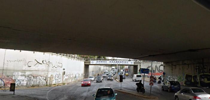 Αποκαταστάθηκε η κυκλοφορία στη συμβολή Λ. Κηφισιάς και Καποδιστρίου στο Χαλάνδρι