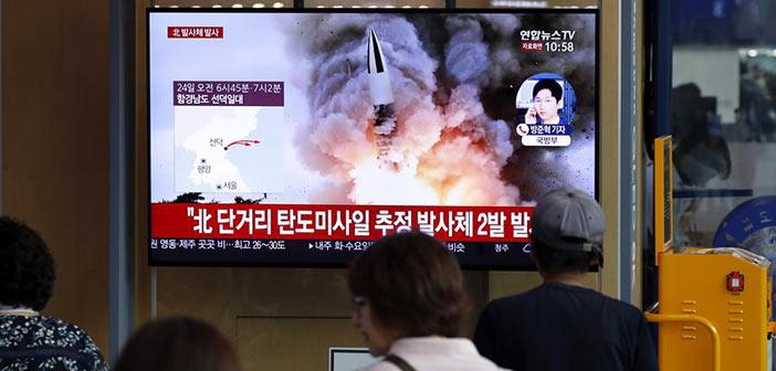 Δύο βλήματα «αγνώστου τύπου» εκτόξευσε η Βόρεια Κορέα